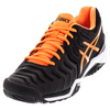 ASICS Men`s Gel-Resolution 7 Tennis Shoes Black and Shock Orange