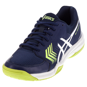 Men`s Gel-Dedicate 5 Tennis Shoes Indigo Blue and White