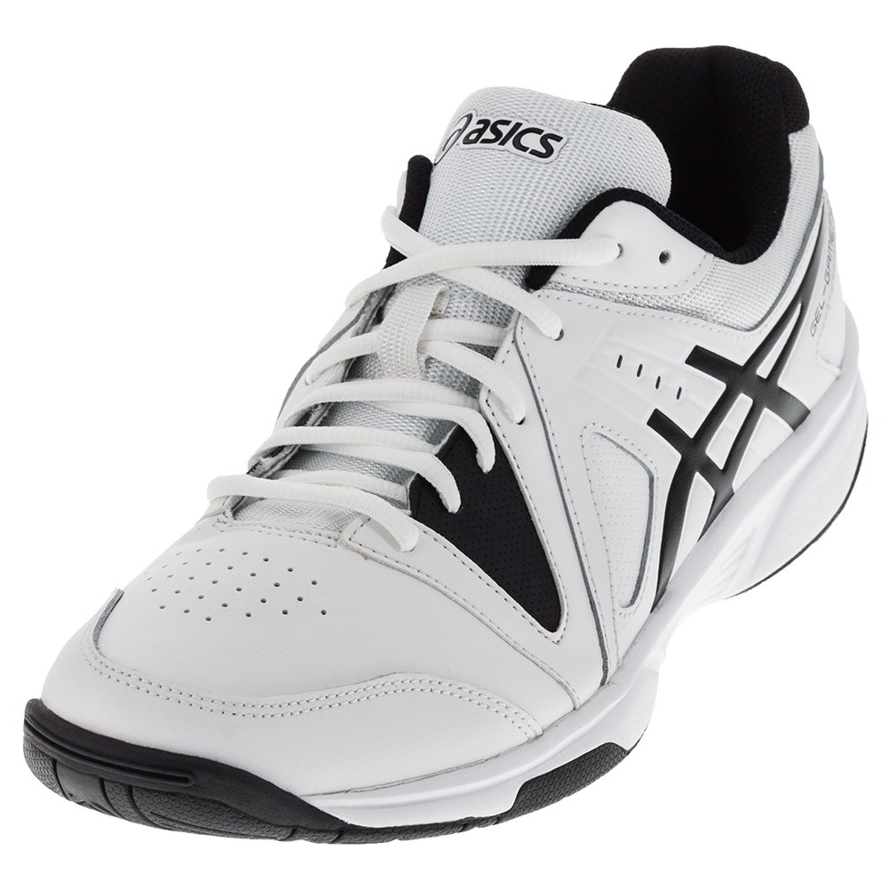 s gel gamepoint tennis shoes white and black ebay