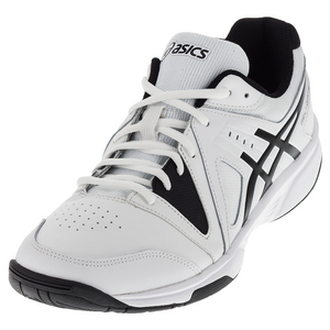 Men`s Gel-Gamepoint Tennis Shoes White and Black