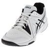 ASICS Men`s Gel-Gamepoint Tennis Shoes White and Black