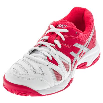 Juniors` Gel-Game 5 Tennis Shoes White and Diva Pink