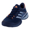 ADIDAS Men`s Barricade 2017 Tennis Shoes Mystery Blue and Easy Blue
