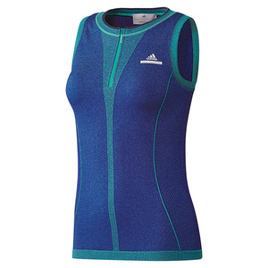 Women`s Stella McCartney Barricade Tennis Tank Hyper Green and Bold Blue
