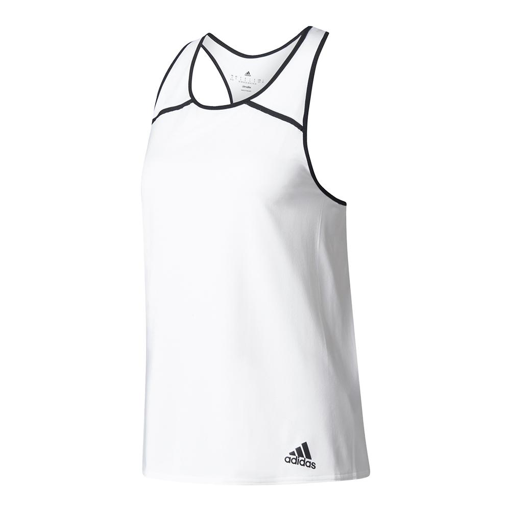 Women's Club Tennis Tank White And Black