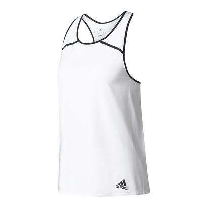 Women`s Club Tennis Tank White and Black