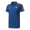 ADIDAS Men`s Barricade Tennis Polo Mystery Blue and Glow Orange