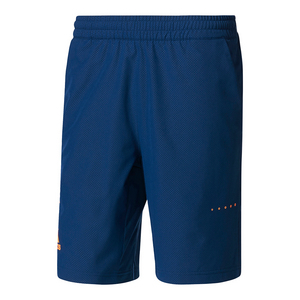 Men`s Barricade Bermuda Tennis Short Mystery Blue and Glow Orange