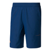 ADIDAS Men`s Barricade Bermuda Tennis Short Mystery Blue and Glow Orange