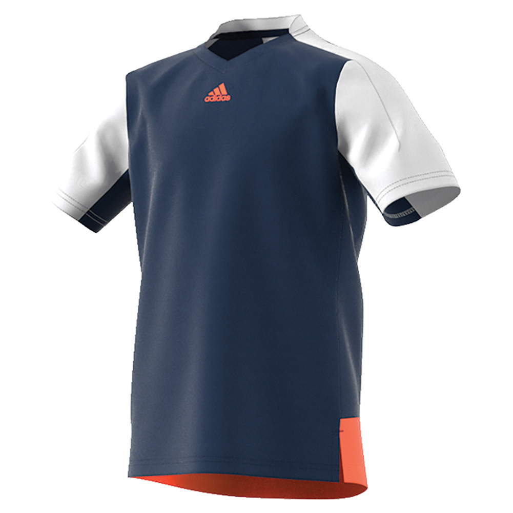 Boys ` Melbourne Tennis Tee Mystery Blue And White