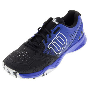 Men`s Kaos Comp Tennis Shoes Black and Blue Iris