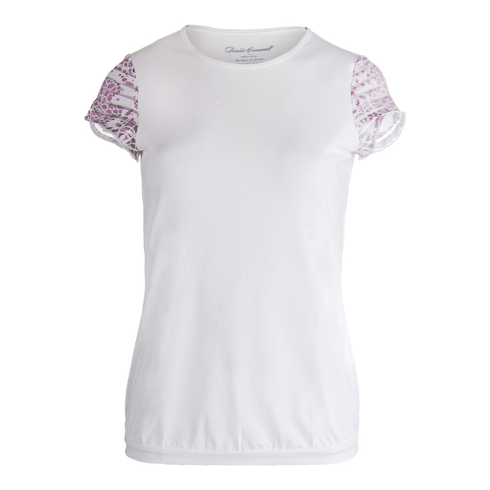 Women's Sienna Cap Sleeve Tennis Top White