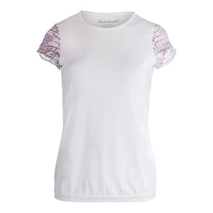 Women`s Sienna Cap Sleeve Tennis Top White