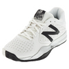 Men`s 996v2 D Width Tennis Shoes White by NEW BALANCE