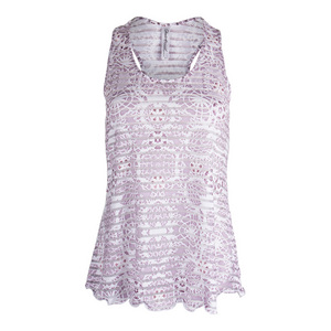 Women`s Sienna Sheer Layer Tennis Top White