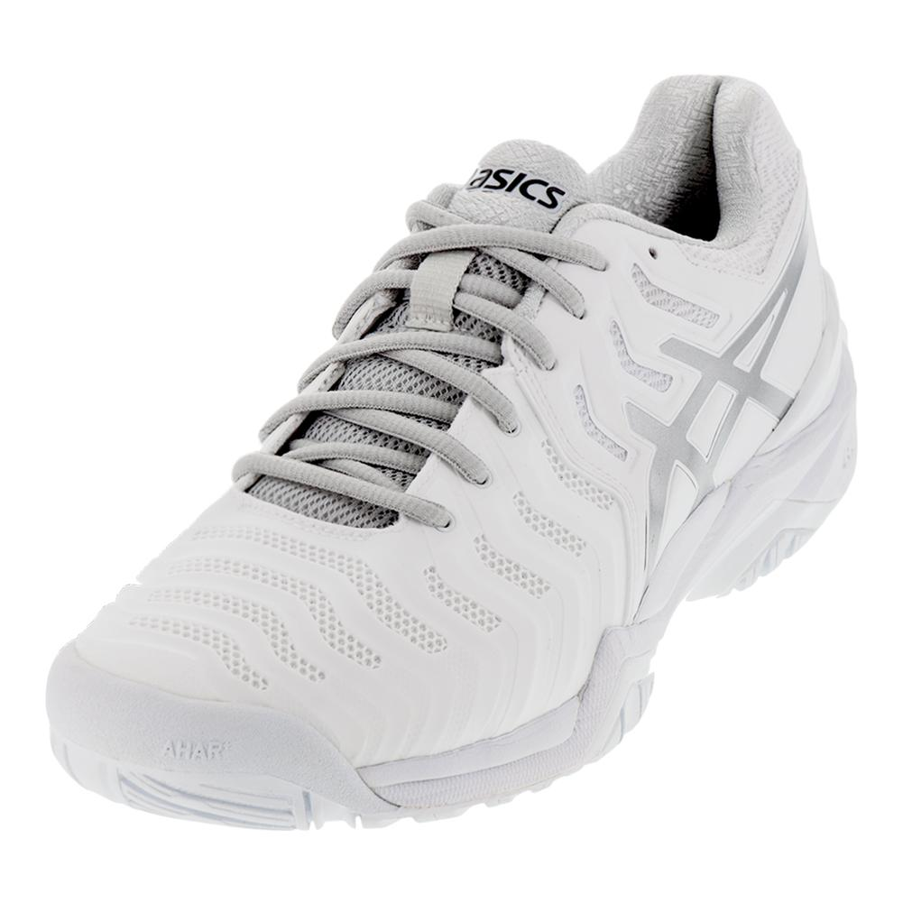 Men's Gel- Resolution 7 Tennis Shoes White And Silver