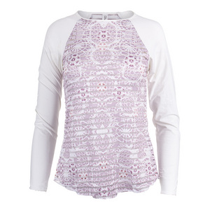 Women`s Sienna Long Sleeve Sheer Body Tennis Top White