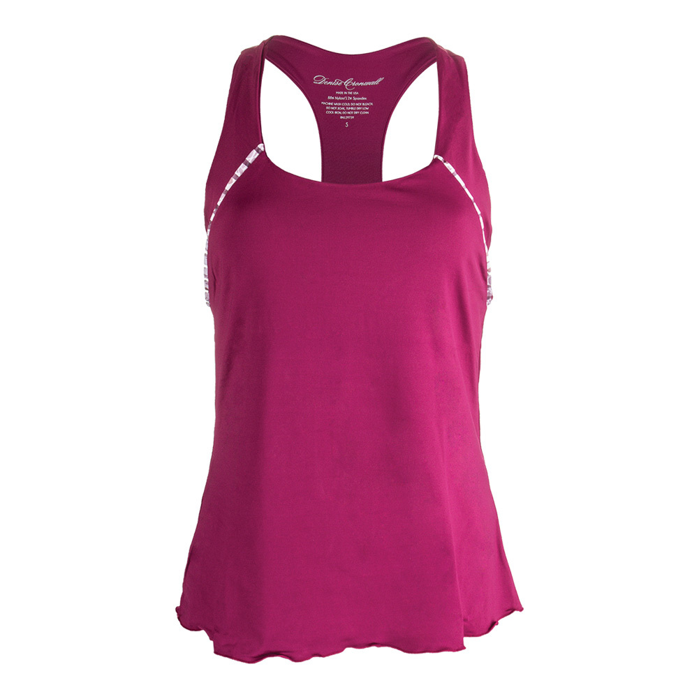 Women's Sienna Solid Racerback Tennis Top Raspberry