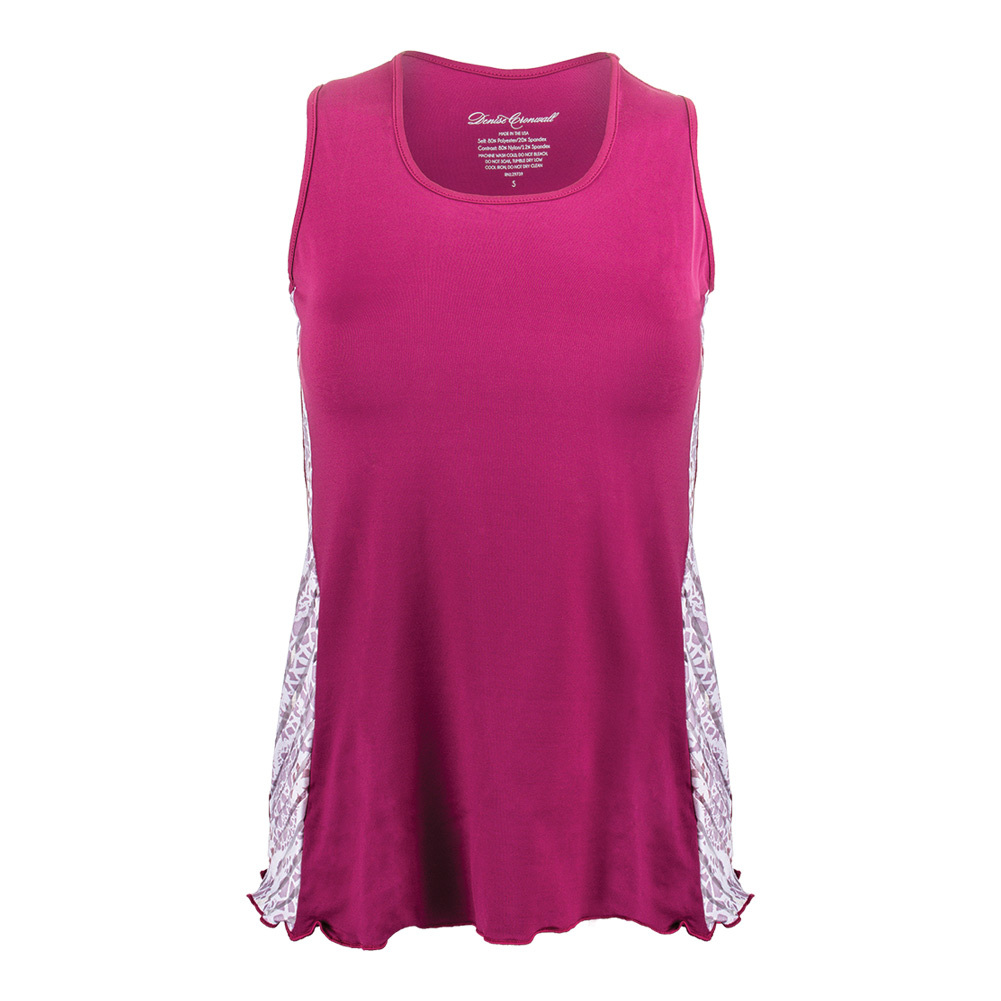 Women's Sienna Tennis Tank Top Raspberry