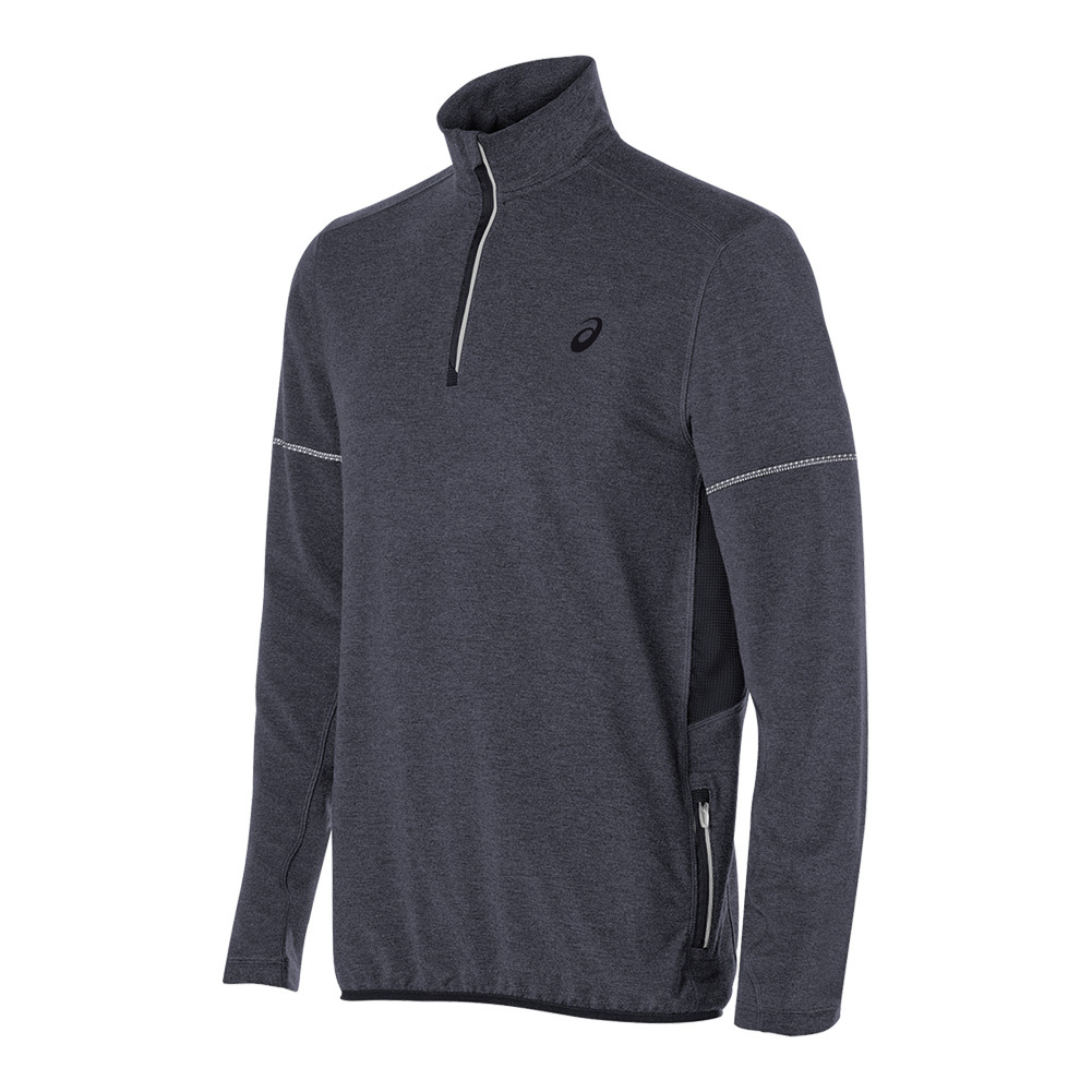 Men's Lightweight Fleece 1/2 Zip Top Black Heather