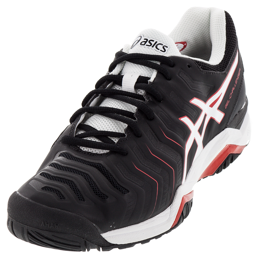 ASICS Mens Gel Challenger 11 Tennis Shoes Black And White
