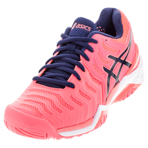 Women`s Gel-Resolution 7 Tennis Shoes Diva Pink and Indigo Blue