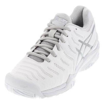 Women`s Gel-Resolution 7 Tennis Shoes White and Silver