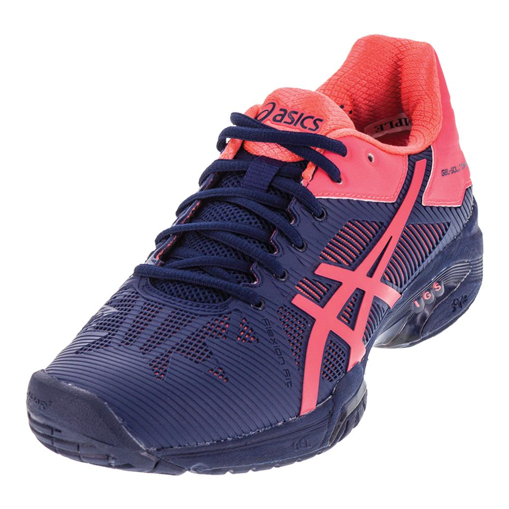 Women's Gel- Solution Speed 3 Tennis Shoes Indigo Blue And Diva Pink