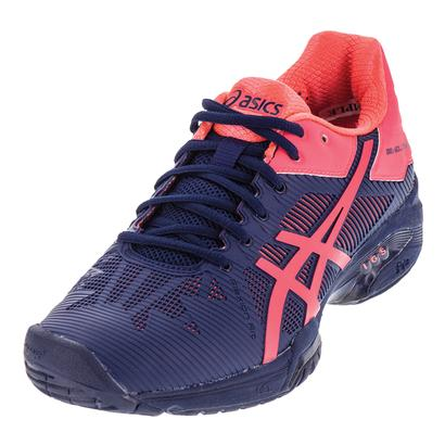Women`s Gel-Solution Speed 3 Tennis Shoes Indigo Blue and Diva Pink