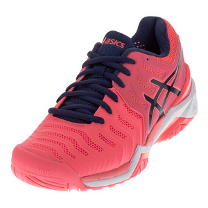 Juniors` Gel-Resolution 7 Tennis Shoes Diva Pink and Indigo Blue