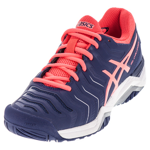 Women`s Gel-Challenger 11 Tennis Shoes Indigo Blue and Diva Pink