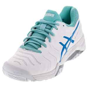 Women`s Gel-Challenger 11 Tennis Shoes White and Diva Blue