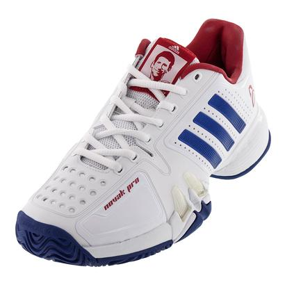 Men`s Novak Pro Tennis Shoes White and Royal