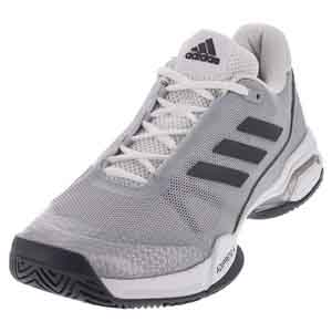 Juniors` Barricade Club Tennis Shoes Night Metallic and White