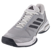 ADIDAS Juniors` Barricade Club Tennis Shoes Night Metallic and White