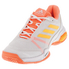 ADIDAS Juniors` Barricade Club Tennis Shoes White and Solar Gold