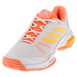 Men`s Barricade Club Tennis Shoes White and Solar Gold
