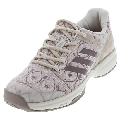 Women`s Adizero Ubersonic 2 Art Nouveau Tennis Shoes Chalk White and Vapour Gray