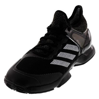 Men`s Adizero Ubersonic 2 Clay Tennis Shoes Core Black and White