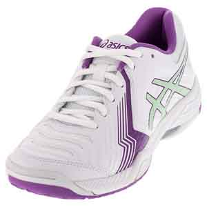 Women`s Gel-Game 6 Tennis Shoes White and Paradise Green