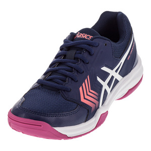 Women`s Gel-Dedicate 5 Tennis Shoes Indigo Blue and White