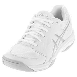 Women`s Gel-Dedicate 5 Tennis Shoes White and Silver