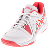 ASICS Women`s Gel-Gamepoint Tennis Shoes White and Diva Pink