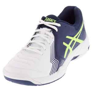 Men`s Gel-Game 6 Tennis Shoes White and Indigo Blue