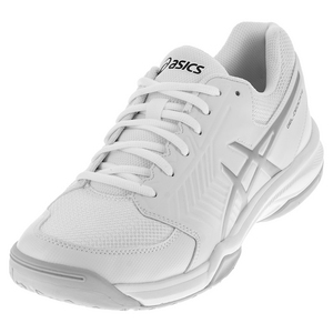 Men`s Gel-Dedicate 5 Tennis Shoes White and Silver