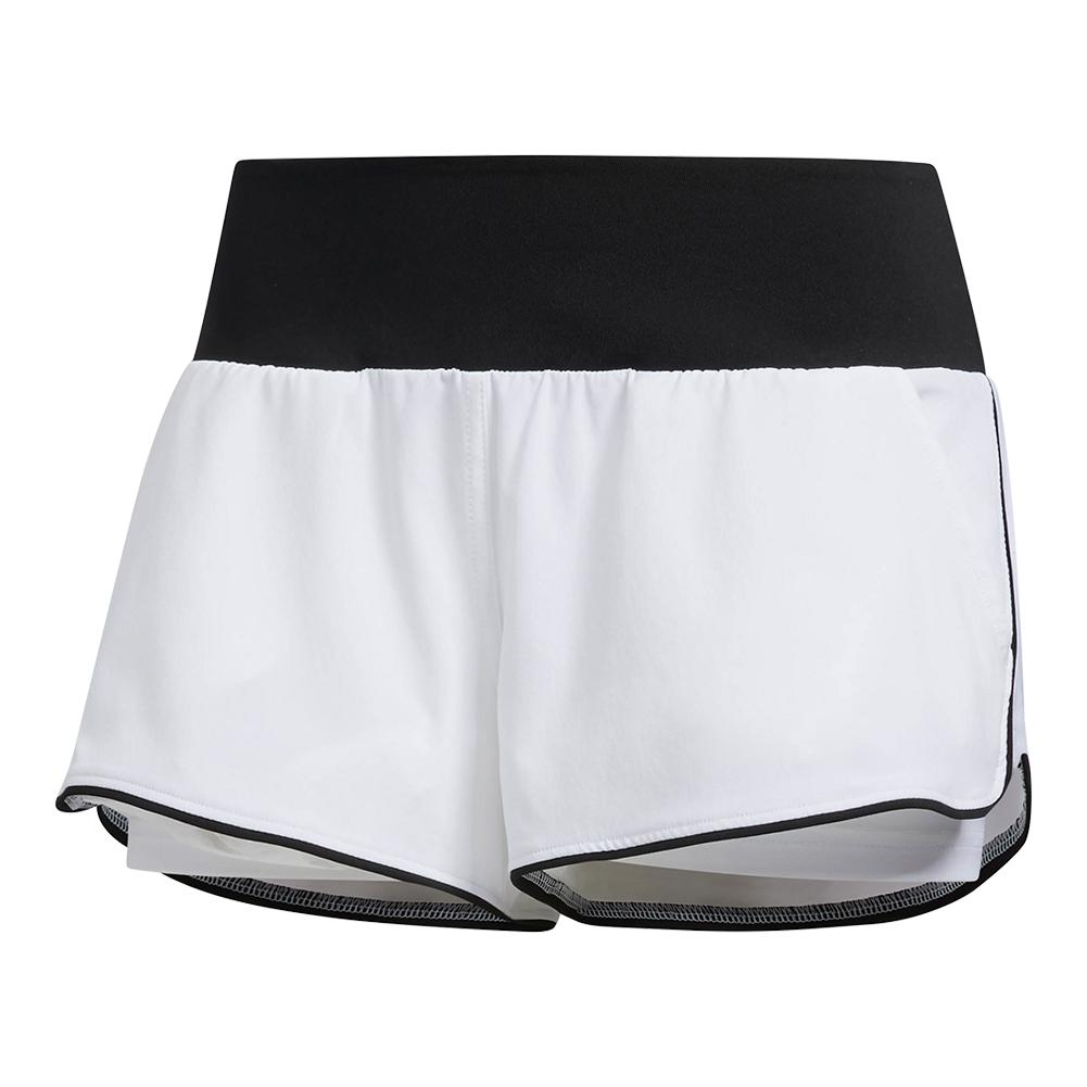 Women's Essex Tennis Short White And Black