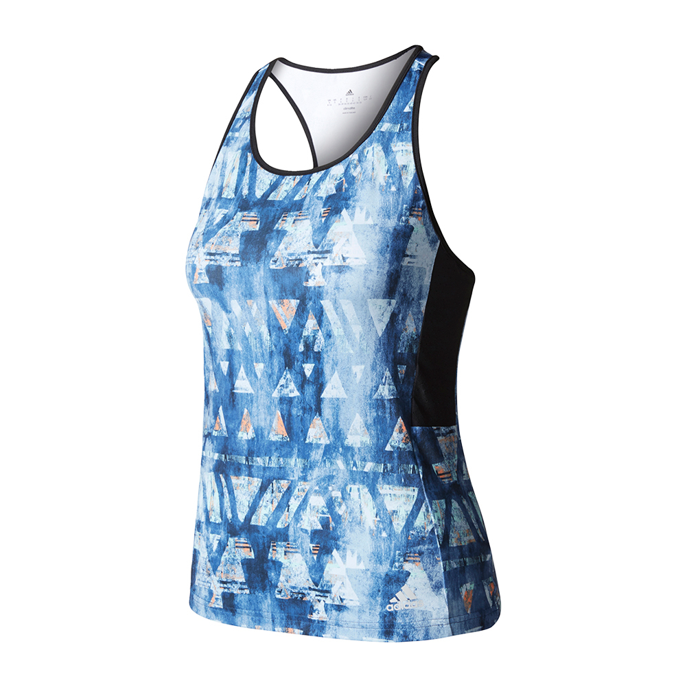 Women's Essex Trend Tennis Tank Mystery Blue And White