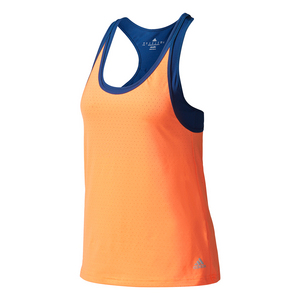 Women`s Essex Strappy Tennis Tank Glow Orange and Mystery Blue