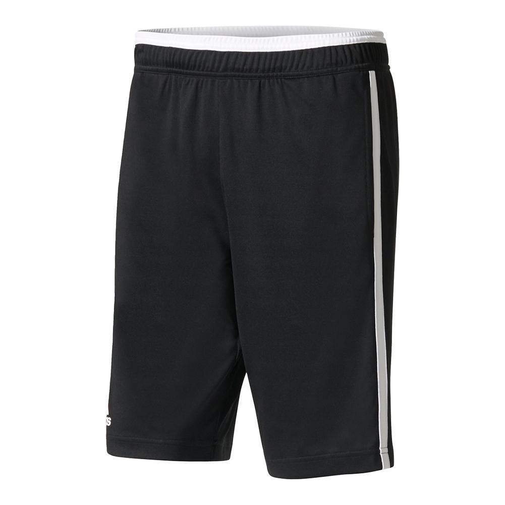 Men's Advantage Bermuda Tennis Short Black And White