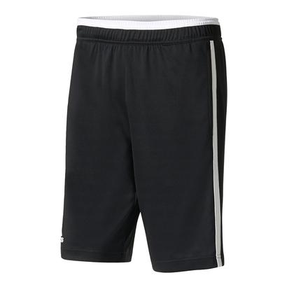 Men`s Advantage Bermuda Tennis Short Black and White